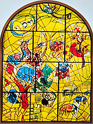 The Tribe of Joseph. The Twelve Tribes of Israel depicted in stained glass By Marc Chagall (1887 - 1985). The Twelve Tribes are Reuben, Simeon, Levi, Judah, Issachar, Zebulun, Dan, Gad, Naphtali, Asher, Joseph, and Benjamin.