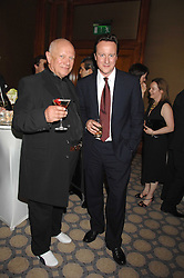 Left to right, Actor STEVEN BERKOFF and DAVID CAMERON MP at a party to celebrate the 180th Anniversary of The Spectator magazine, held at the Hyatt Regency London - The Churchill, 30 Portman Square, London on 7th May 2008.<br />