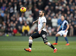Bradley Johnson of Derby County watches the ball - Mandatory byline: Robbie Stephenson/JMP - 16/01/2016 - FOOTBALL - iPro Stadium - Derby, England - Derby County v Birmingham City - Sky Bet Championship
