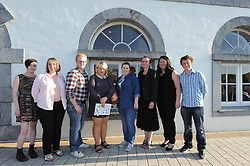 Pictured at the Custom House Studios at the 'End of Year Show 2016' from students at Westport College of Further Education Art Course , Eilis Hardesty, Elma Brazel, David Delaney, Martina Faherty, Lily Wadley, Tara James and Doreen Walsh and Keith Kelly, the show features examples from their portfolios in painting, drawing, creative ceramics, sculpture and combined materials.<br />(Missing from Photo were Trudy Jennings, Mary Monaghan, Clare O'Sullivan and Niamh Murphy)<br /> Pic Conor McKeown