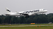Finnair at Manchester Airport, Manchester, United Kingdom on 14 March 2020.