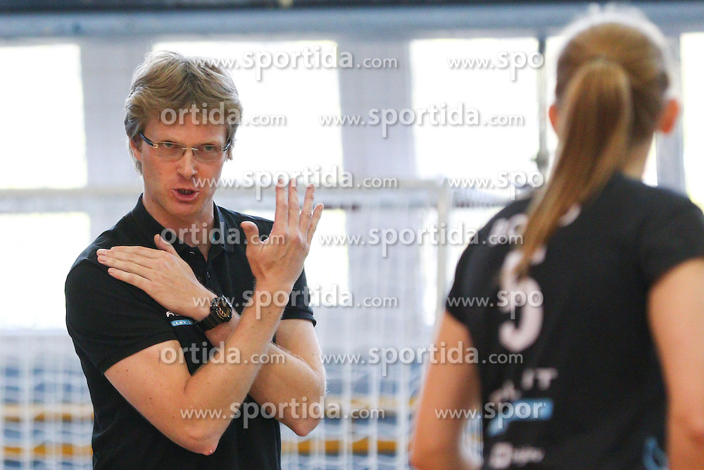 Gasper Ribic, head coach of Calcit Kamnik during volleyball game between Calcit Kamnik and Nova KBM Branik in 4th leg of Finals of Slovenian National Championship 2015, on April 14, 2015 in Sportna dvorana, Kamnik, Slovenia. Photo by Matic Klansek Velej / Sportida