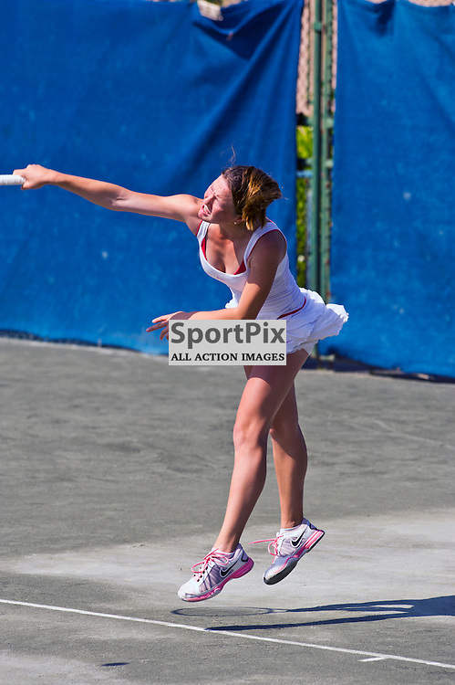 Ruby Grants takes on Klara Radovcic at theAegon Junior International Edinburgh - Europe Junior Tour - Craiglockhart Sport Centre Edinburgh. 8 July 2013