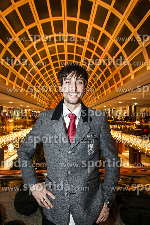 28.01.2014, Marriott, Wien, AUT, Sochi 2014, Einkleidung OeOC, im Bild Mario Stecher (AUT) // Mario Stecher of Austria during the outfitting of the Austrian National Olympic Committee for Sochi 2014 at the  Marriott in Vienna, Austria on 2014/01/28. EXPA Pictures © 2014, PhotoCredit: EXPA/ JFK