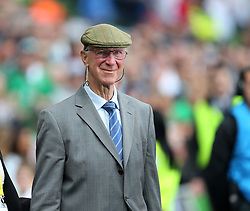 June 7, 2015 - Dublin, United Kingdom - Ireland's former manager and England player Jack Charlton gets introduced to the crowd..International Friendly - Republic of Ireland vs England - Aviva Stadium - Ireland - 7th June 2015 - Picture David Klein/Sportimage.(Credit Image: © Sport Image/Sportimage/Cal Sport Media/ZUMAPRESS.com)