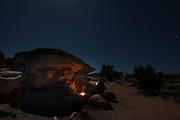 Camping near Moab, Utah.