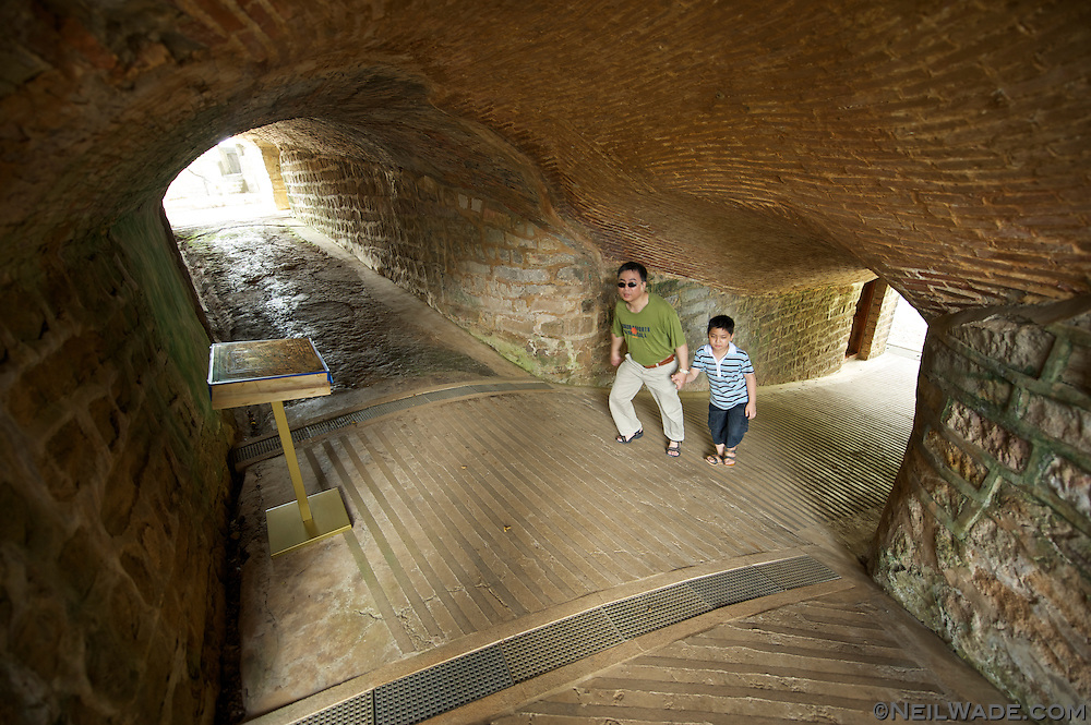 Inside one of the bunkers at Huwei Fort ???? in Danshui, Taiwan.