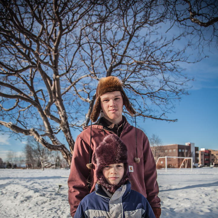 """We moved from Soldotna to Anchorage about two years ago.  We are home schooled and we buy our food in bulk.""  -Dyson (16) and Lucy (10) Dammeyer at Delaney Park Strip, Anchorage."