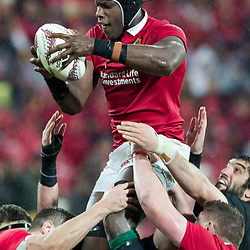 Maro Itoje during game 9 of the British and Irish Lions 2017 Tour of New Zealand, the second Test match between  The All Blacks and British and Irish Lions, Westpac Stadium, Wellington, Saturday 1st July 2017<br /> (Photo by Kevin Booth Steve Haag Sports)<br /> <br /> Images for social media must have consent from Steve Haag