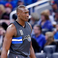 25 February 2017: Orlando Magic center Bismack Biyombo (11) is seen during the Orlando Magic 105-86 victory over the Atlanta Hawks, at the Amway Center, Orlando, Florida, USA.