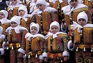 BEL, Belgium, Hainaut, Binche, carnival, the Gilles of Binche.....BEL, Belgien, Hennegau, Binche, Karneval, die Gilles.....