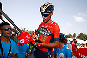 Vincenzo Nibali (ITA - Bahrain - Merida) fan, autograph, during the UCI World Tour, Tour of Spain (Vuelta) 2018, Stage 3, Mijas - Alhaurin de la Torre 178,2 km in Spain, on August 27th, 2018 - Photo Luca Bettini / BettiniPhoto / ProSportsImages / DPPI