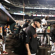 Bruce Bochy, San Francisco Giants, Manager, in the dugout during the New York Mets Vs San Francisco Giants MLB regular season baseball game at Citi Field, Queens, New York. USA. 11th June 2015. Photo Tim Clayton