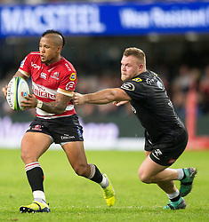 Durban. 300618. Elton Jantjies during the Super Rugby match between Cell C Sharks and Emirates Lions and at Jonsson Kings Park Stadium on June 30, 2018 in Durban, South Africa. Picture Leon Lestrade. African News Agency/ANA