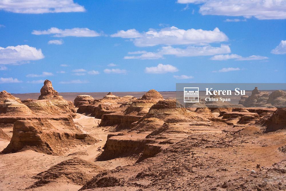 Monster City of Bailongdui, Yadan geography, on the desert, Yumenguan, Gansu Province, China