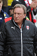Rotherham United manager Neil Warnock  during the Sky Bet Championship match between Rotherham United and Leeds United at the New York Stadium, Rotherham, England on 2 April 2016. Photo by Ian Lyall.