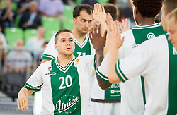 Jan Mocnik of Union Olimpija during basketball match between KK Union Olimpija and KK Krka in 4th Final match of Telemach Slovenian Champion League 2011/12, on May 24, 2012 in Arena Stozice, Ljubljana, Slovenia.  (Photo by Vid Ponikvar / Sportida.com)