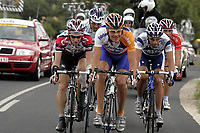 Sykkel<br /> Tour de France 2004<br /> 09.07.2004<br /> Foto: PhotoNews/Digitalsport<br /> <br /> ETAPE 06 / RIT 5  BONNEVAL / ANGERS<br /> <br /> Kurt-Asle Arvesen (CSC), Carlos Dacruz (Fdjeux.com), Marc Lotz (Rabobank), Juan Antionio Flecha (Fassa Bortolo) en Jimmy Engoulvent (Cofidis)