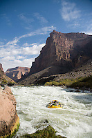 Rafting through Lava Falls in the Grand Canyon National Park, AZ
