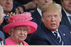 Queen Elizabeth II and US President Donald Trump during the commemorations for the 75th Anniversary of the D-Day landings at Southsea Common in Portsmouth.