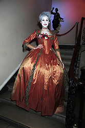 ALEXA CHUNG at a Halloween party hosted by herself and Browns Focus held at the House of St.Barnabas, 1 Greek Street, London on 31st October 2008.