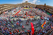 Start Plaza Mayor Salamanca during the 73th Edition Tour of Spain, Vuelta Espana 2018, stage 10 cycling race, Salamanca - Fermoselle Bermillo de Sayago 177 km on September 4, 2018 in Spain - Photo Luca Bettini / BettiniPhoto / ProSportsImages / DPPI