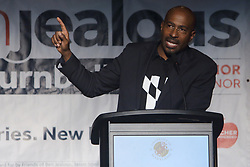 October 6, 2018 - College Park, MD, U.S - Van Jones, political activist, seen speaking during a rally for Maryland gubernatorial candidate Ben Jealous, held at the Hoff Theater in the Stamp Student Union at the University of Maryland in College Park. (Credit Image: © Evan Golub/ZUMA Wire)