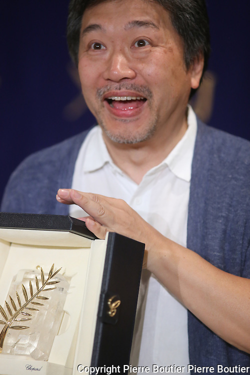 June 6 , 2018 , Tokyo , Hirokazu Kore-Eda director of Manbiki no Kazoku ,The shoplifters,who was awarded by 2018 Palme D'or at Cannes film festival speak to press before masterpiece release at Japan cinemas  recently Hirokazu Kore  eda  refused to be honnored by state  arguing he  wants  to stay far away from governement due to its  culture policy . Pierre Boutier