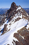 Boston Peak, seen from Sahale Mountain, North Cascades National Park, Washington, USA. October 1, 1982.