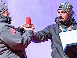 27.02.2018, Salzburg, AUT, PyeongChang 2018, ÖOC Medaillenfeier, im Bild v.l.: ÖSV Präsident Peter Schröcksnadel, Doppelolympiasieger Marcel Hirscher // during a ÖOC medal celebration Party after the Olympic Winter Games Pyeongchang 2018 in Salzburg, Austria on 2018/02/27. EXPA Pictures © 2018, PhotoCredit: EXPA/ JFK