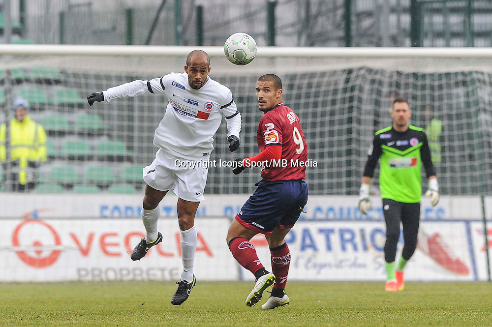 Loic NESTOR - 24.01.2015 - Clermont / Chateauroux  - 21eme journee de Ligue2<br />
