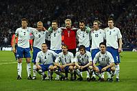 Scotland v Iceland<br /> World Cup Qualifier<br /> Hampden Park / BT Stadium<br /> Glasgow<br /> <br /> Iceland team<br /> <br /> 1st April 2009<br /> <br /> <br /> <br /> <br /> Ian MacNicol<br /> 07949 850 537<br /> ian_mac1966@yahoo.com<br /> www.ianmacnicolimages.co.uk