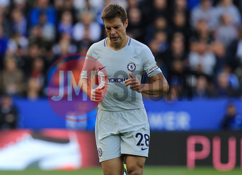 Cesar Azpilicueta of Chelsea - Mandatory by-line: Paul Roberts/JMP - 09/09/2017 - FOOTBALL - King Power Stadium - Leicester, England - Leicester City v Chelsea - Premier League