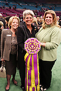 l to r: Cecilia Ruggles(owner), Beth Dowd(owner) and Carol Dowd Winner Best in Show, Stump, at The 133rd Westminister Annual All Breed Dog Show Finals held at Madison Square Garden on February 10, 2009..It is, quite simply the greatest tradition in the world of dogs.  For the 133rd consecutive year, the Westminister Kennel Club will once again bring together the world's very best dogs in the world's greatest sporting arena to compete for the most coveted title in the sport: Best in Show at the Westminister Kennel Club All Breed Dog Show.