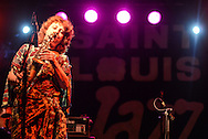 Edith Lettner of Austria with band African Jazz Spirit. 21st International Jazz Festival in Saint Louis, Senegal, May 15 - 19, 2013.