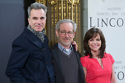 Steven Spielberg, Daniel Day-Lewis and Sally Field attend a photocall for 'Lincoln' at the Casa de AmÈrica, Madrid, Spain, January 16, 2013. Photo by Leyre I. Pollo / DyD Fotografos / i-Images...SPAIN OUT