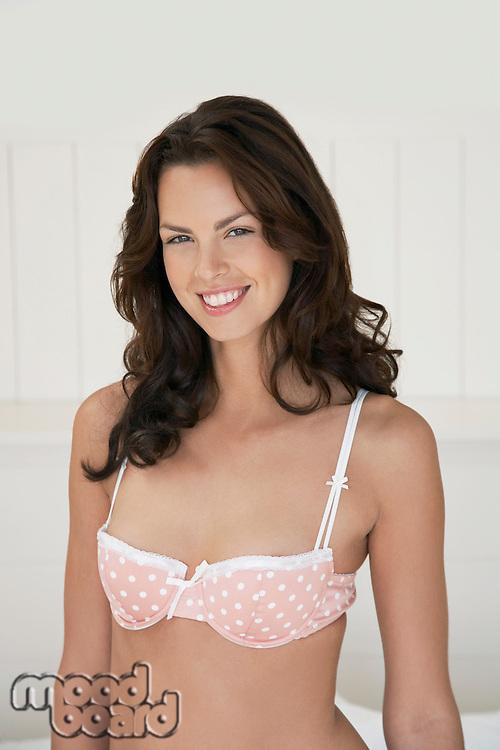 Woman in underwear half length