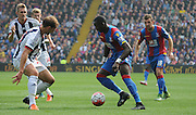 Yannick Bolasie looks to beat his man during the Barclays Premier League match between Crystal Palace and West Bromwich Albion at Selhurst Park, London, England on 3 October 2015. Photo by Michael Hulf.