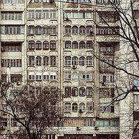 Apartment blocks in Bishkek, Kyrgyzstan.