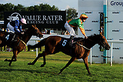 """Gemini ridden by Robbie Downey and trained by John Quinn in the Play """"Four From The Top"""" At Valuerater.Co.Uk Handicap (Value Rater Racing Club Summer Stayers' Qual) race.  - Ryan Hiscott/JMP - 02/08/2019 - PR - Bath Racecourse - Bath, England - Race Meeting at Bath Racecourse"""