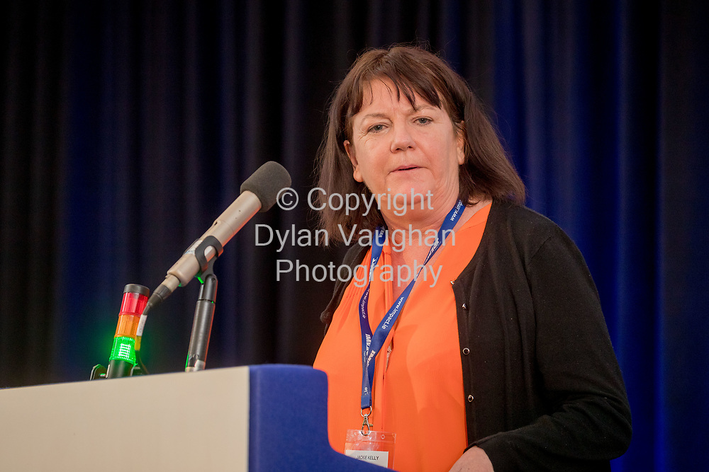 1-6-17<br />  <br /> Jackie Kelly pictured at the IMPACT Health and Welfare Division Conference in Wexford.<br /> Picture Dylan Vaughan.