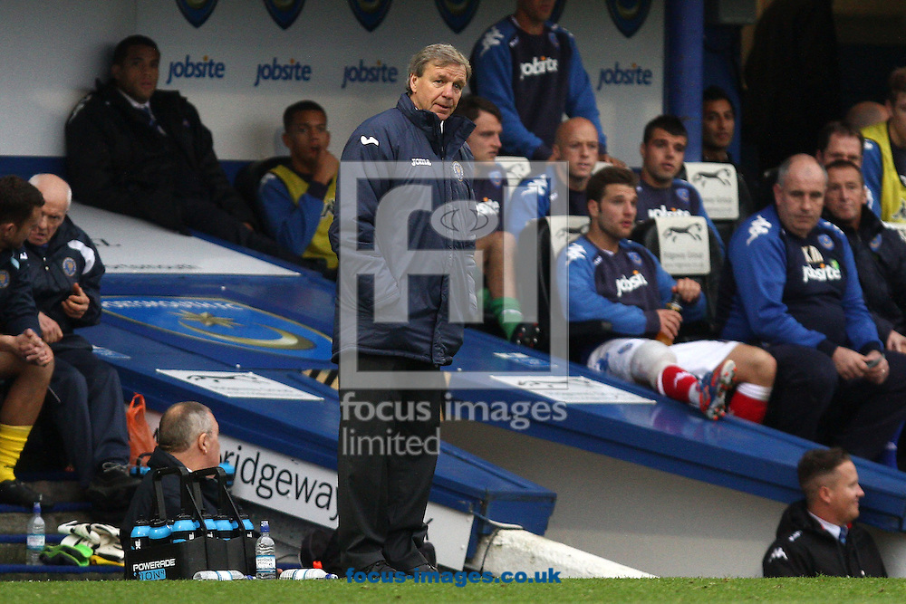 Picture by Daniel Chesterton/Focus Images Ltd +44 7966 018899.20/10/2012.Shrewsbury Town manager Graham Turner during the npower League 1 match at Fratton Park, Portsmouth.