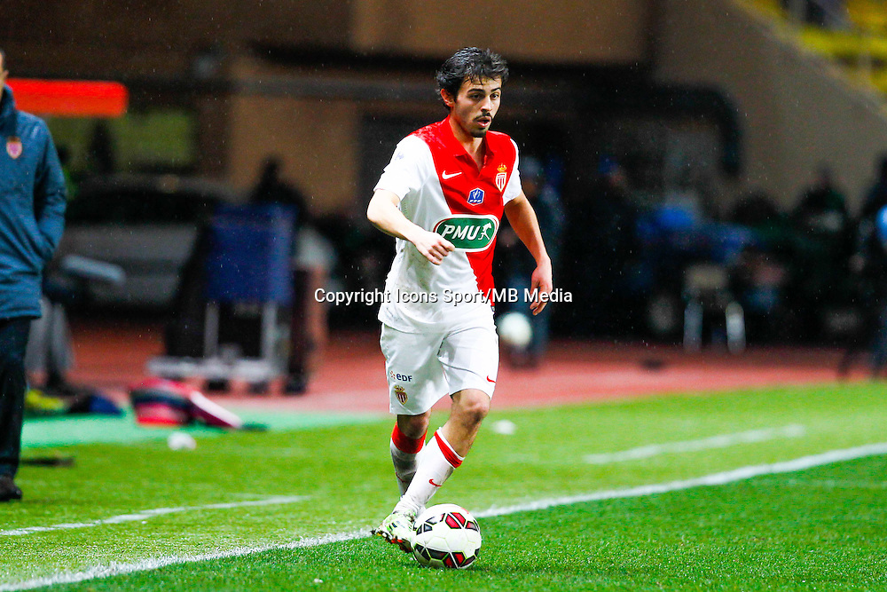 Bernardo Silva  - 21.01.2015 - Monaco / Evian Thonon   - Coupe de France 2014/2015<br /> Photo : Sebastien Nogier / Icon Sport