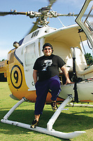 17/09/04 - DIEGO MARADONA GAVE AN INTERVIEW IN AN HELICOPTER - Buenos Aires - Argentina.<br />