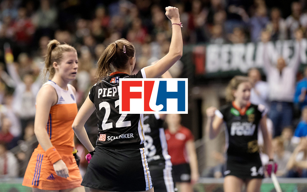 BERLIN - Indoor Hockey World Cup<br /> Final: Netherlands - Germany<br /> Germany wins the world championship.<br /> foto: Cecile Pieper.<br /> WORLDSPORTPICS COPYRIGHT FRANK UIJLENBROEK
