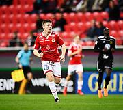 KALMAR, SWEDEN - APRIL 18: Viktor Agardius of Kalmar FF during the Allsvenskan match between Kalmar FF and Ostersunds FK at Guldfageln Arena on April 18, 2018 in Kalmar, Sweden. Photo by Jonas Gustafsson/Ombrello ***BETALBILD***