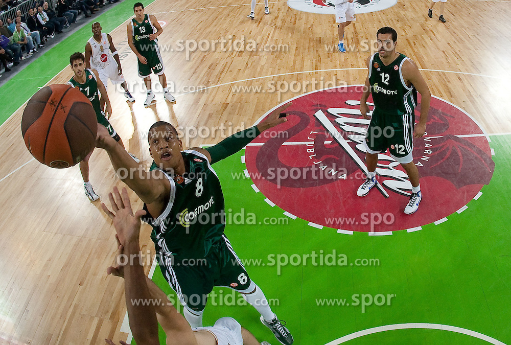 Mike Batiste of Panathinaikos  during basketball match between KK Union Olimpija (SLO) and Panathinaikos (GRE) in Group D of Turkish Airlines Euroleague, on November 4, 2010 in Arena Stozice, Ljubljana, Slovenia. Union Olimpija defeated Panathinaikos 85-84. (Photo By Vid Ponikvar / Sportida.com)