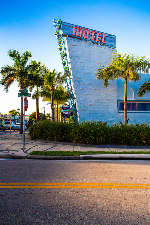 The Space Age, Miami Modern (MiMo) style Vagabond Motel was designed in 1953 by architect Robert Swartburg who also designed The Delano Hotel in South Beach