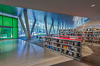 Architectural interior image of DC Public Library at Square 37 in the West End of Washington DC by Jeffrey Sauers of Commercial Photographics, Architectural Photo and Video Artistry