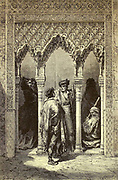 Porte de la Sala de Justicia [The Door to the Hall of Justice, the Alhambra, Granada, Andalusia, Spain] Page illustration from the book 'L'Espagne' [Spain] by Davillier, Jean Charles, barón, 1823-1883; Doré, Gustave, 1832-1883; Published in Paris, France by Libreria Hachette, in 1874